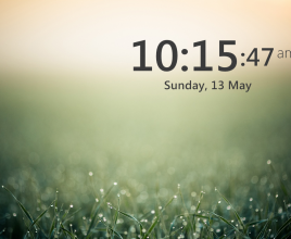 Big Clock Rainmeter Skin
