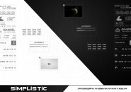 Black Simplistic Windows 7 Rainmeter Skin