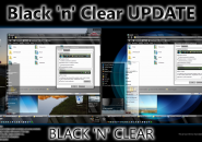 Black and Clear Windows Blind Theme