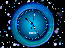 Blue Abstract Clock Screensaver