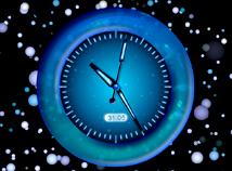 Blue Abstract Clock Screensaver