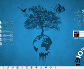 Blue Earth Needed Rainmeter Skin