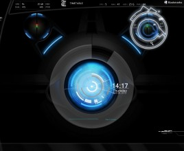 Blue Planet Core Rainmeter Skin