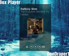 Box Player Forested Rainmeter Skin