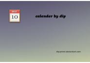 Calendar Dip Rainmeter Skin