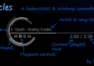 Circled Player Complete Detailed Windows 7 Rainmeter Skin