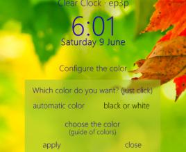 Clear Glass Clock Rainmeter Skin For Windows 7