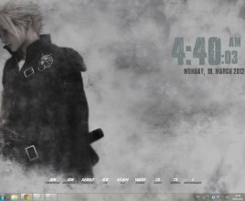 Cloud Strife Rainmeter Theme For Windows 7