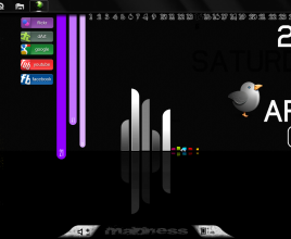 Colourful Dock Rainmeter Theme