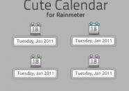 Cuty Calendar Rainmeter Skin For Windows 7