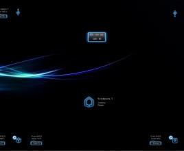 Dark Neon Blue Windows 7 Rainmeter Theme