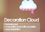 Decoration Cloud Windows 7 Rainmeter Skin