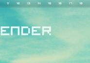 Dip Horizontal Calendar Rainmeter Skin