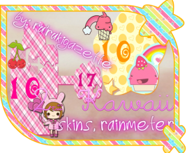 Dual Kawaii Rainmeter Theme