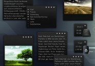 Eka Black Beauty Windows 7 Rainmeter Theme