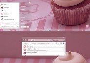Elune pink theme for windows 7
