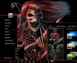 Evil theme for windows 7
