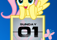 Flutter Shy Calendar Rainmeter Theme