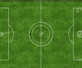 Football Grassy Clock Windows 7 Rainmeter Theme