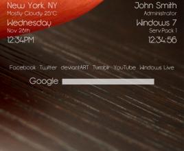 Google Searcher Powered Rainmeter Skin