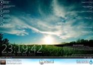 Grass Nex2 Windows 7 Rainmeter Skin
