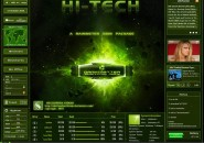 Green Goes Hi Tech Rainmeter Skin For Windows 7