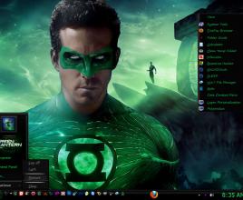 Green lantern theme for windows 7