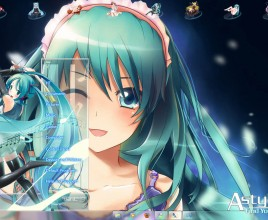 Hatsune miku v10 theme for windows 7