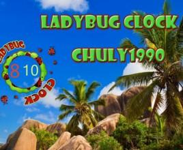 Lady Bug Clock Rainmeter Skin