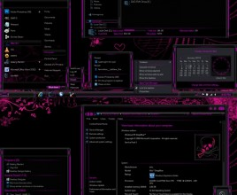 Lightsabre pink theme for windows 7