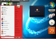 Live Red Windows Blind Theme