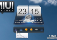 MIUI Weather Beauty Windows 7 Rainmeter Skin