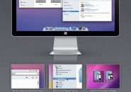 Mac OS X lion theme for windows 7