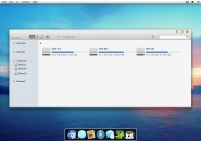 Mac OS lion theme for windows 7