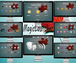 Magic Launcher Rainmeter Theme For Windows 7