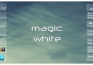 Magic White Windows 7 Rainmeter Skin
