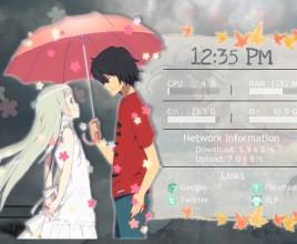 Menma Jinta Windows 7 Rainmeter Skin