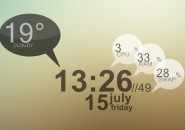 Mid Night Biro Rainmeter Windows 7 Skin