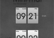 Mini-Mal Calendar Windows 7 Rainmeter Theme