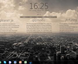 Mono Krome Windows 7 Rainmeter Skin