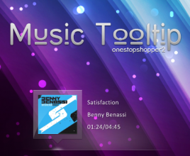 Music Tool Tip Windows 7 Rainmeter Skin