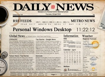 Newspaper Desktop Rainmeter Theme