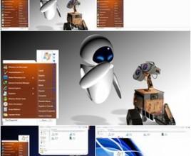 Orange spray theme for windows 7