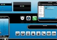 PDA Blue Windows Blind Theme