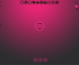 Pink And Black Metro Style Windows 7 Rainmeter Skin