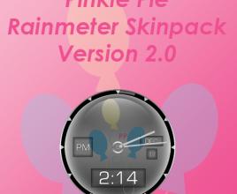 Pinkie Pie Rainmeter Theme For Windows 7