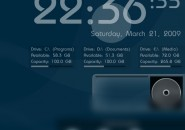 Plain and Simple Rainmeter skin for Windows 7