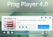 Prag Player Ultimate Windows 7 Rainmeter Theme