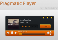 Pragmatic Orange Windows 7 Rainmeter Skin