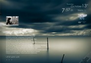 Pre-Storm Windows 7 Rainmeter Skin